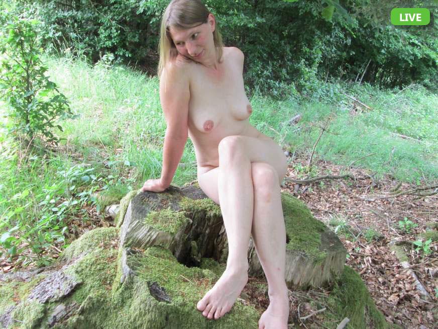 Kleine Titten mit spitzen Nippeln im Nacktchat
